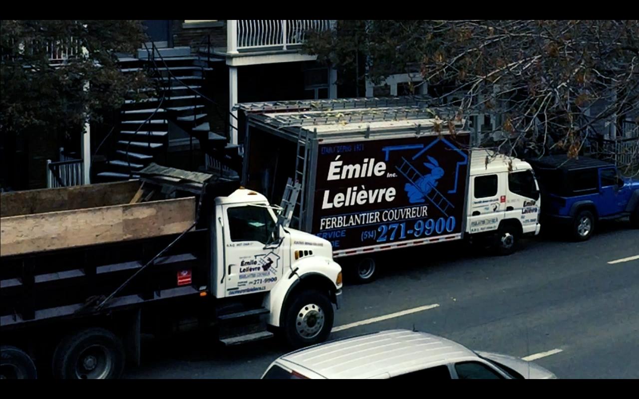 Camion Émile Lelièvre Ferblantier Couvreur Montréal