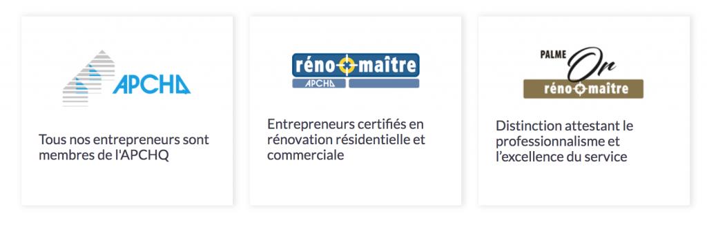 Apchq- Reno-Maître - Or Couvreur Émile Lelièvre Ferblantier